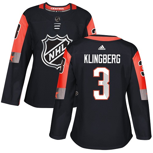 Adidas Dallas Stars 3 John Klingberg Black 2018 All-Star Central Division Authentic Women Stitched NHL Jersey