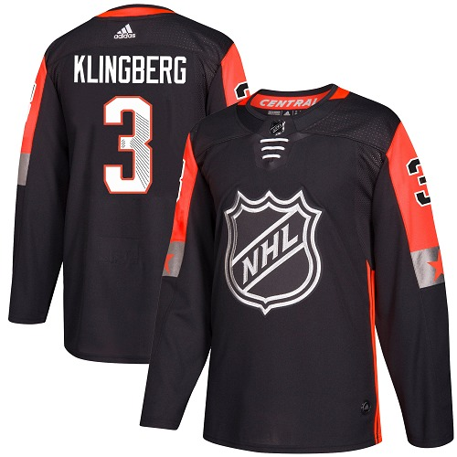 Adidas Dallas Stars 3 John Klingberg Black 2018 All-Star Central Division Authentic Youth Stitched NHL Jersey