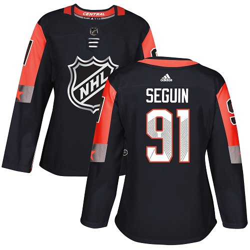 Adidas Dallas Stars 91 Tyler Seguin Black 2018 All-Star Central Division Authentic Women Stitched NHL Jersey