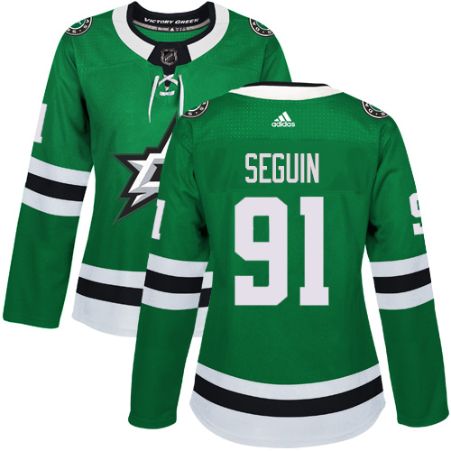 Adidas Dallas Stars 91 Tyler Seguin Green Home Authentic Women Stitched NHL Jersey