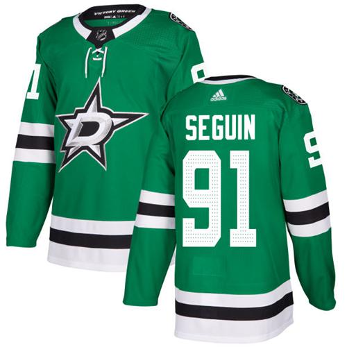 Adidas Dallas Stars 91 Tyler Seguin Green Home Authentic Youth Stitched NHL Jersey