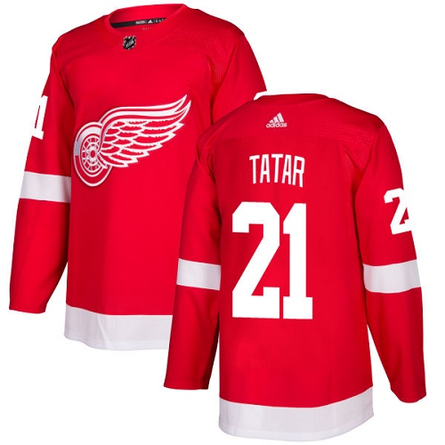 Adidas Detroit Red Wings 21 Tomas Tatar Red Home Authentic Stitched Youth NHL Jersey