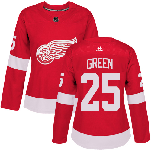 Adidas Detroit Red Wings 25 Mike Green Red Home Authentic Women Stitched NHL Jersey