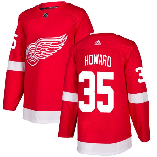 Adidas Detroit Red Wings 35 Jimmy Howard Red Home Authentic Stitched Youth NHL Jersey