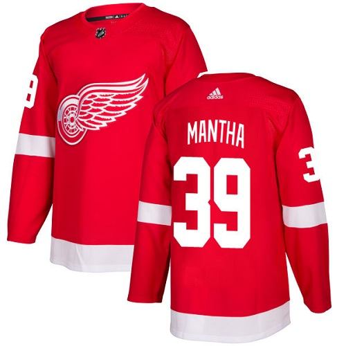 Adidas Detroit Red Wings 39 Anthony Mantha Red Home Authentic Stitched Youth NHL Jersey