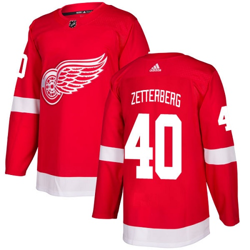 Adidas Detroit Red Wings 40 Henrik Zetterberg Red Home Authentic Stitched Youth NHL Jersey