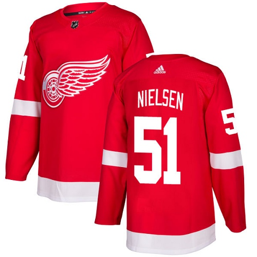 Adidas Detroit Red Wings 51 Frans Nielsen Red Home Authentic Stitched Youth NHL Jersey