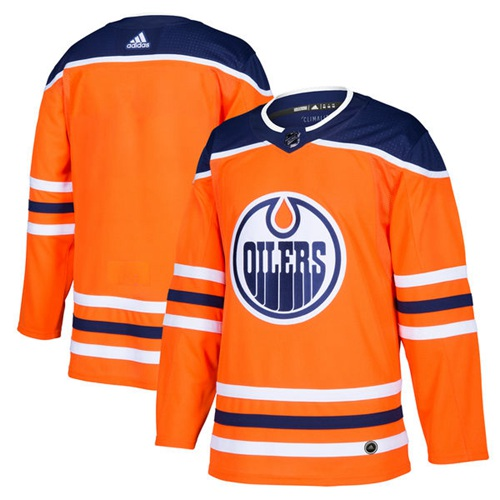 Adidas Edmonton Oilers Blank Orange Home Authentic Stitched Youth NHL Jersey