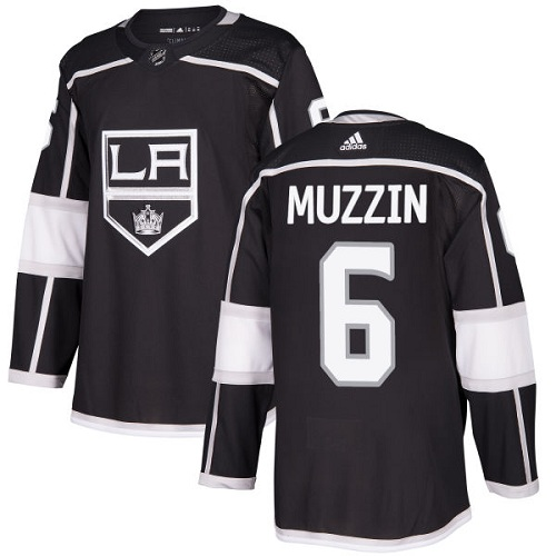 Adidas Los Angeles Kings 6 Jake Muzzin Black Home Authentic Stitched Youth NHL Jersey