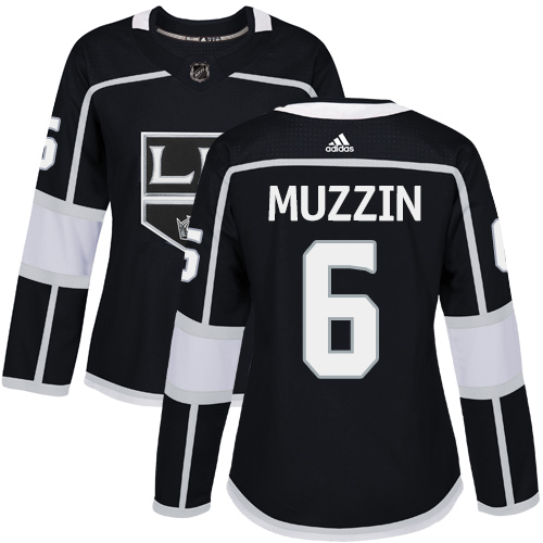 Adidas Los Angeles Kings 6 Jake Muzzin Black Home Authentic Women Stitched NHL Jersey