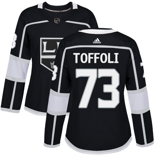 Adidas Los Angeles Kings 73 Tyler Toffoli Black Home Authentic Women Stitched NHL Jersey