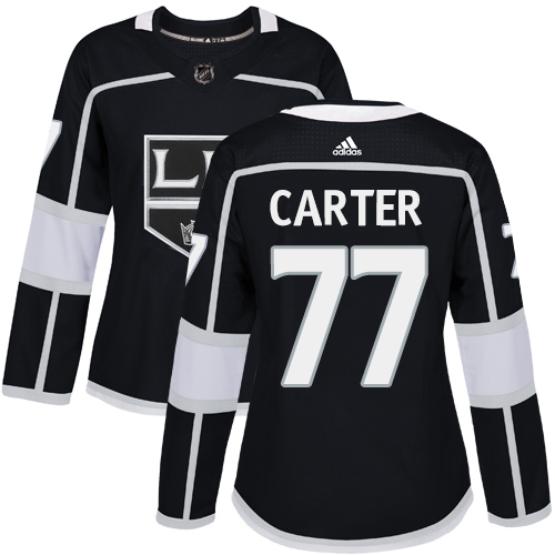 Adidas Los Angeles Kings 77 Jeff Carter Black Home Authentic Women Stitched NHL Jersey