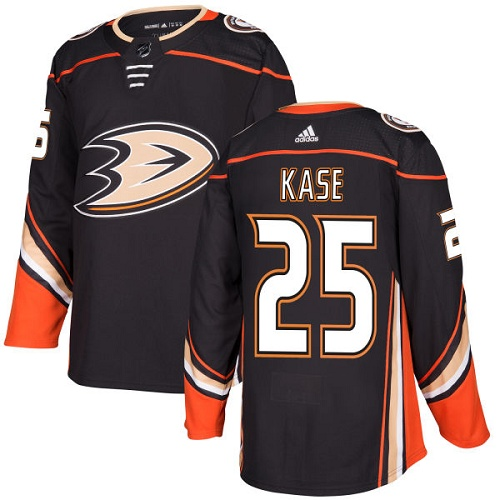 Adidas Men Anaheim Ducks 25 Ondrej Kase Black Home Authentic Stitched NHL Jersey