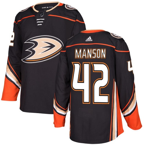 Adidas Men Anaheim Ducks 42 Josh Manson Black Home Authentic Stitched NHL Jersey