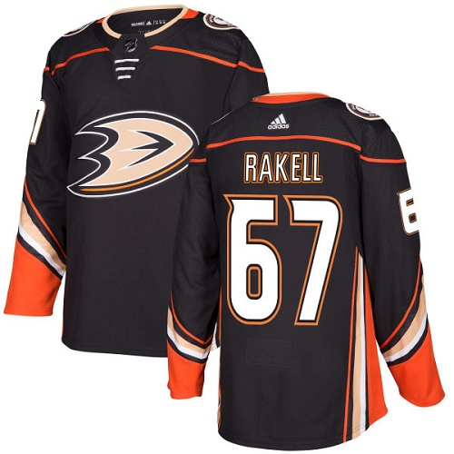 Adidas Men Anaheim Ducks 67 Rickard Rakell Black Home Authentic Stitched NHL Jersey