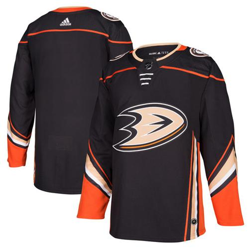 Adidas Men Anaheim Ducks Blank Black Home Authentic Stitched NHL Jersey