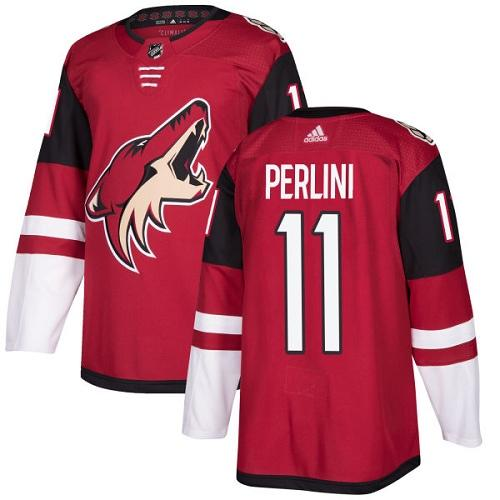 Adidas Men Arizona Coyotes 11 Brendan Perlini Maroon Home Authentic Stitched NHL Jersey