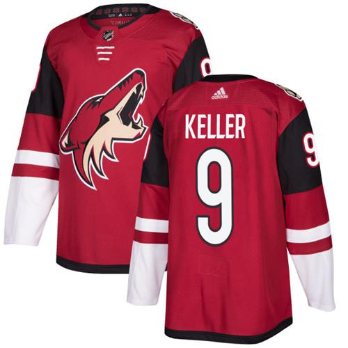 Adidas Men Arizona Coyotes 9 Clayton Keller Maroon Home Authentic Stitched NHL Jersey