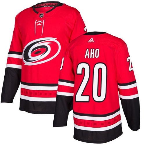 Adidas Men Carolina Hurricanes 20 Sebastian Aho Red Home Authentic Stitched NHL Jersey