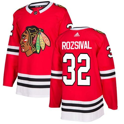 Adidas Men Chicago Blackhawks 32 Michal Rozsival Red Home Authentic Stitched NHL Jersey