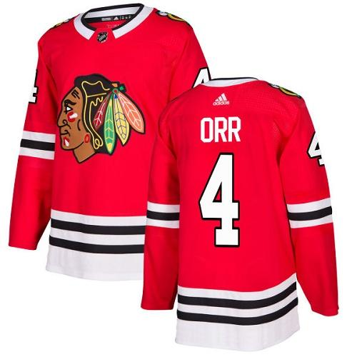Adidas Men Chicago Blackhawks 4 Bobby Orr Red Home Authentic Stitched NHL Jersey