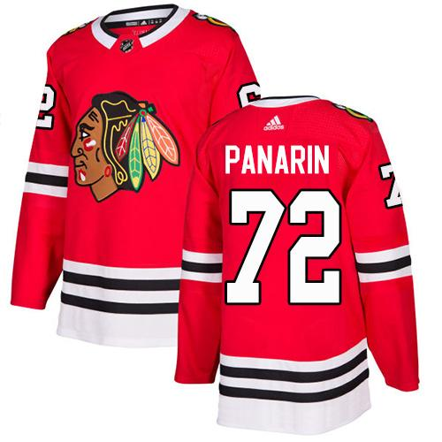 Adidas Men Chicago Blackhawks 72 Artemi Panarin Red Home Authentic Stitched NHL Jersey