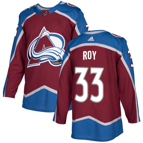 Adidas Men Colorado Avalanche 33 Patrick Roy Burgundy Home Authentic Stitched NHL Jersey