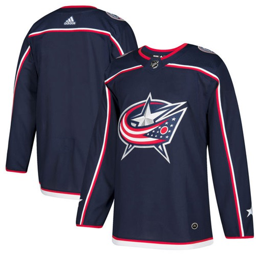 Adidas Men Columbus Blue Jackets Blank Navy Blue Home Authentic Stitched NHL Jersey