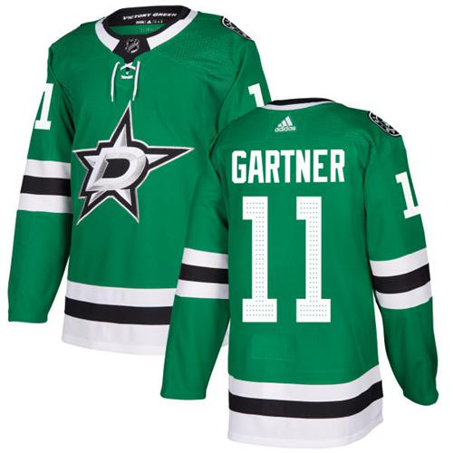 Adidas Men Dallas Stars 11 Mike Gartner Green Home Authentic Stitched NHL Jersey