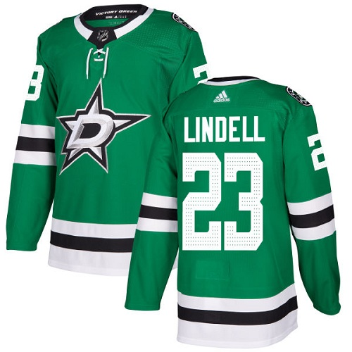 Adidas Men Dallas Stars 23 Esa Lindell Green Home Authentic Stitched NHL Jersey