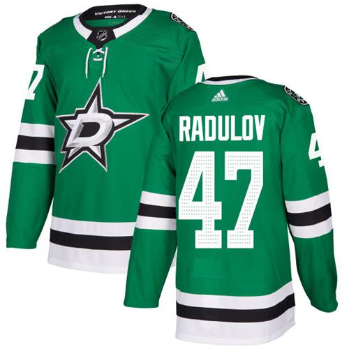 Adidas Men Dallas Stars 47 Alexander Radulov Green Home Authentic Stitched NHL Jersey