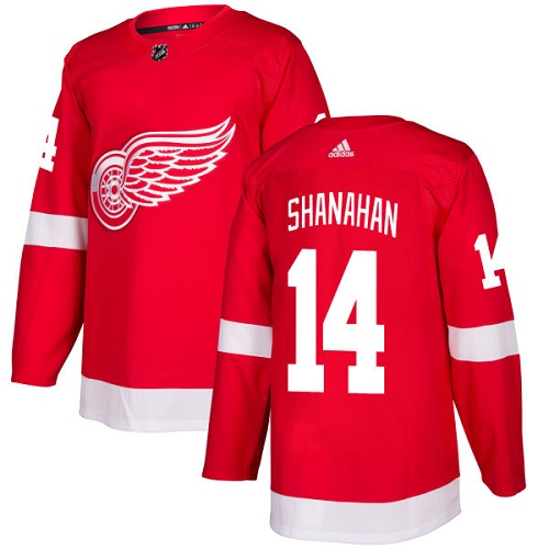 Adidas Men Detroit Red Wings 14 Brendan Shanahan Red Home Authentic Stitched NHL Jersey