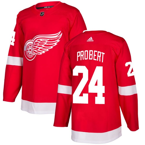 Adidas Men Detroit Red Wings 24 Bob Probert Red Home Authentic Stitched NHL Jersey