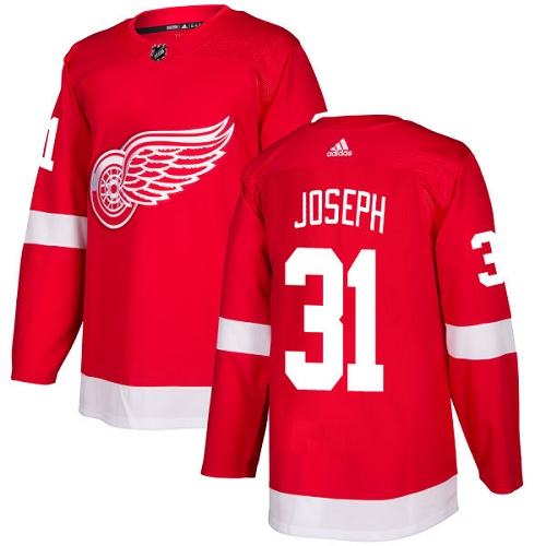 Adidas Men Detroit Red Wings 31 Curtis Joseph Red Home Authentic Stitched NHL Jersey