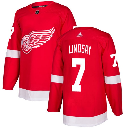 Adidas Men Detroit Red Wings 7 Ted Lindsay Red Home Authentic Stitched NHL Jersey