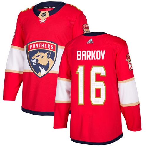 Adidas Men Florida Panthers 16 Aleksander Barkov Red Home Authentic Stitched NHL Jersey