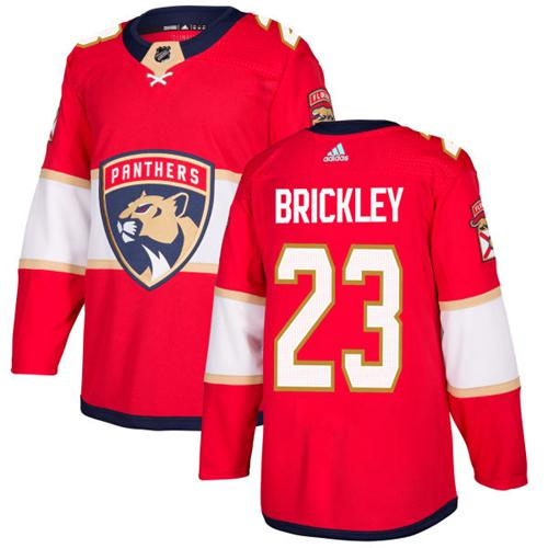 Adidas Men Florida Panthers 23 Connor Brickley Red Home Authentic Stitched NHL Jersey