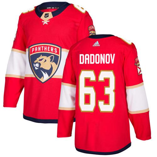 Adidas Men Florida Panthers 63 Evgenii Dadonov Red Home Authentic Stitched NHL Jersey