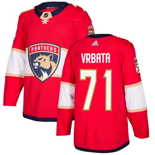 Adidas Men Florida Panthers 71 Radim Vrbata Red Home Authentic Stitched NHL Jersey