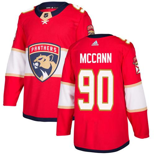 Adidas Men Florida Panthers 90 Jared McCann Red Home Authentic Stitched NHL Jersey