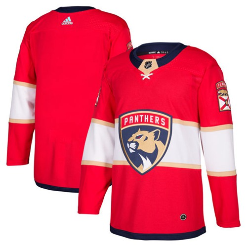 Adidas Men Florida Panthers Blank Red Home Authentic Stitched NHL Jersey