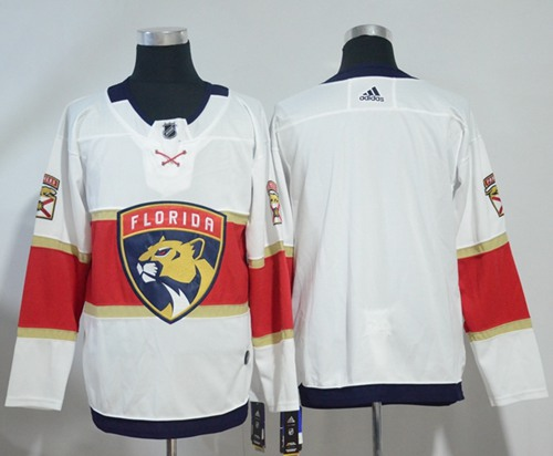 Adidas Men Florida Panthers Blank White Road Authentic Stitched NHL Jersey