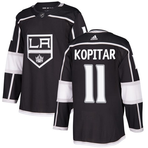 Adidas Men Los Angeles Kings 11 Anze Kopitar Black Home Authentic Stitched NHL Jersey