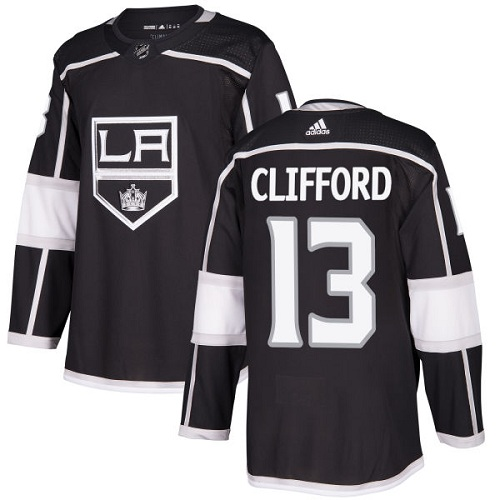 Adidas Men Los Angeles Kings 13 Kyle Clifford Black Home Authentic Stitched NHL Jersey