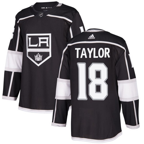 Adidas Men Los Angeles Kings 18 Dave Taylor Black Home Authentic Stitched NHL Jersey