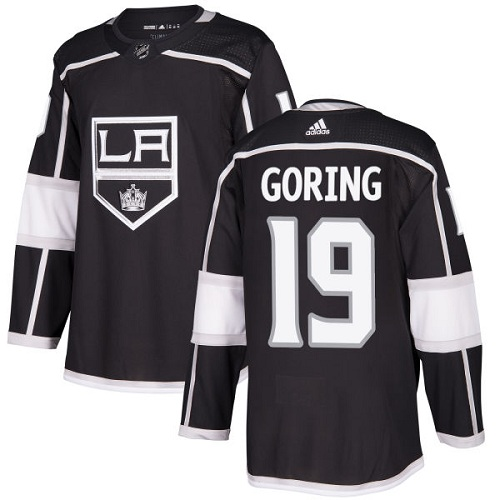 Adidas Men Los Angeles Kings 19 Butch Goring Black Home Authentic Stitched NHL Jersey