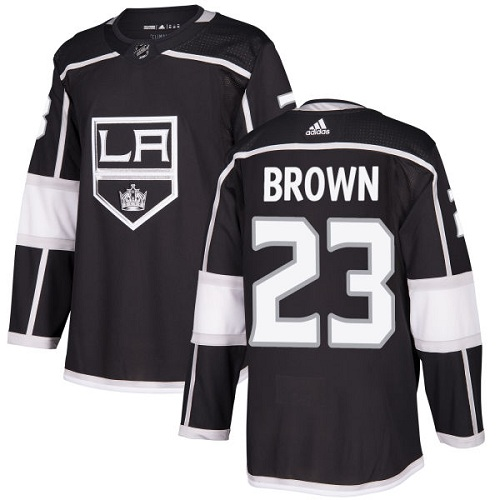 Adidas Men Los Angeles Kings 23 Dustin Brown Black Home Authentic Stitched NHL Jersey
