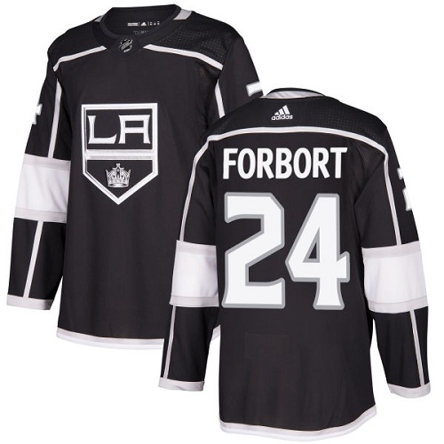 Adidas Men Los Angeles Kings 24 Derek Forbort Black Home Authentic Stitched NHL Jersey