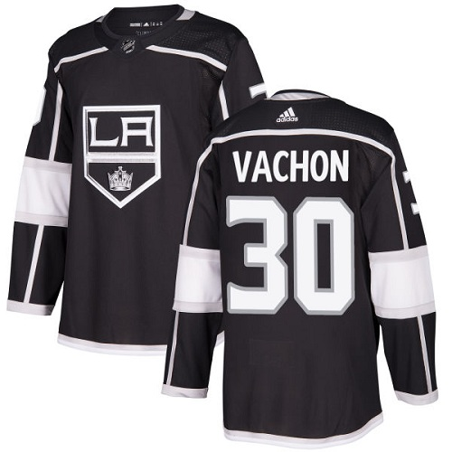 Adidas Men Los Angeles Kings 30 Rogie Vachon Black Home Authentic Stitched NHL Jersey