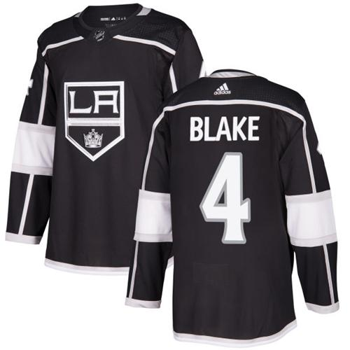 Adidas Men Los Angeles Kings 4 Rob Blake Black Home Authentic Stitched NHL Jersey